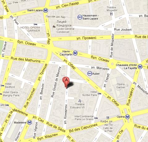 Отель Astra Opera 4* на карте